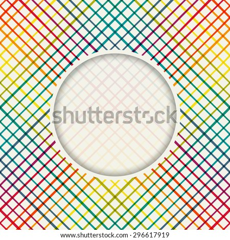 Geometric seamless pattern with cross lines. Vector illustration - stock vector