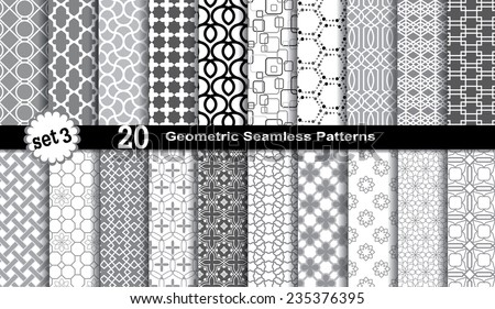Geometric Seamless Patterns. - stock vector