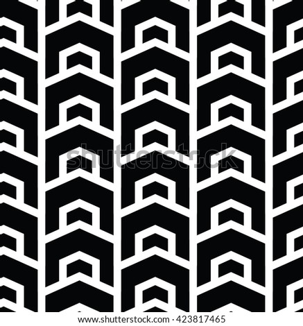 Geometric seamless vector background with black and white pattern