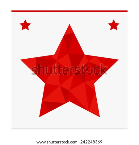Geometric shape from triangles. Star - vector illustration. - stock vector