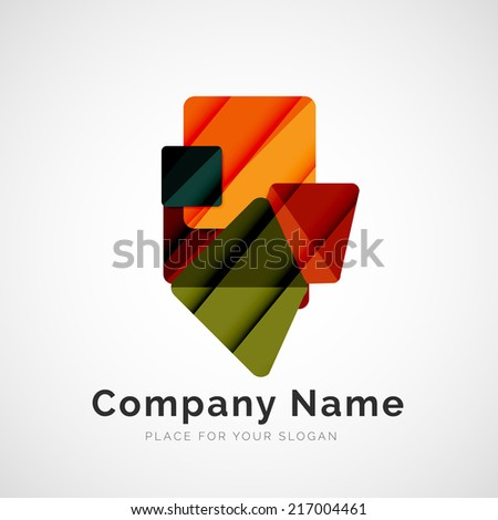 Geometric shape icon, company logo design
