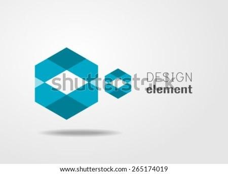 Geometric shape logo design template - stock vector