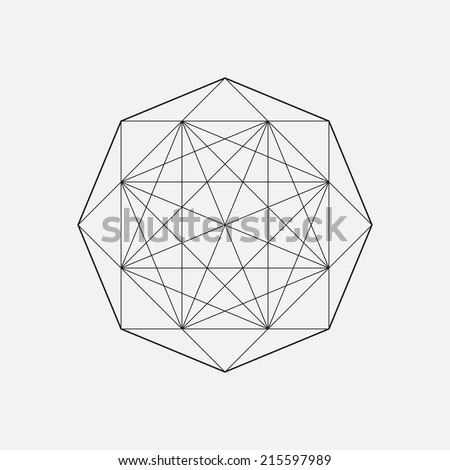 Geometric shape, star design