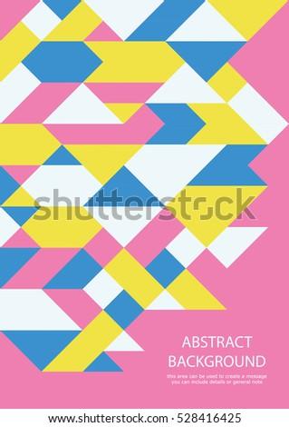 Geometric shapes business card design. Vector illustration.