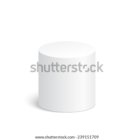 Geometric shapes, 3d cylinder. Platform, podium to advertise various objects - stock vector