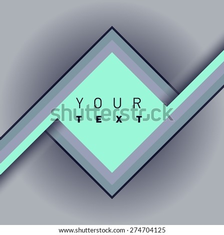 Geometric shapes. Trendy backgrounds and frame for text. Rhombus. Modern graphic. - stock vector