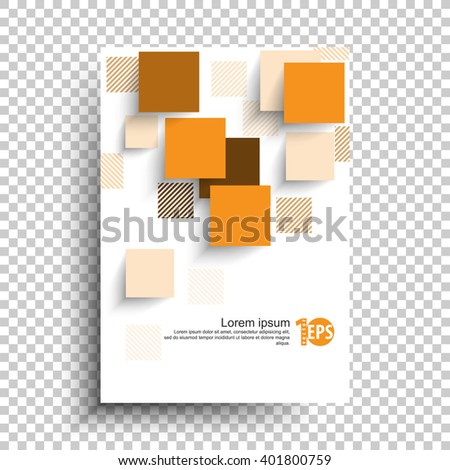 geometric squares overlapping trendy material background design. eps10 vector - stock vector