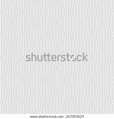 Geometric striped pattern - seamless vector background. White and gray texture