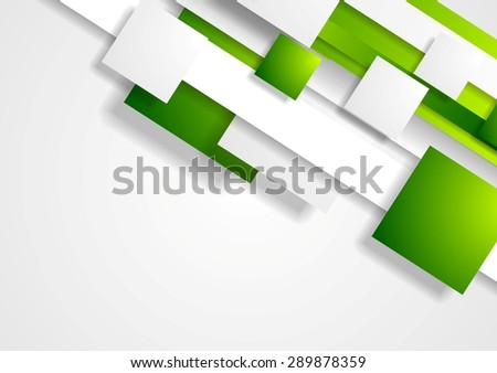 Geometric tech corporate background with squares. Vector design - stock vector