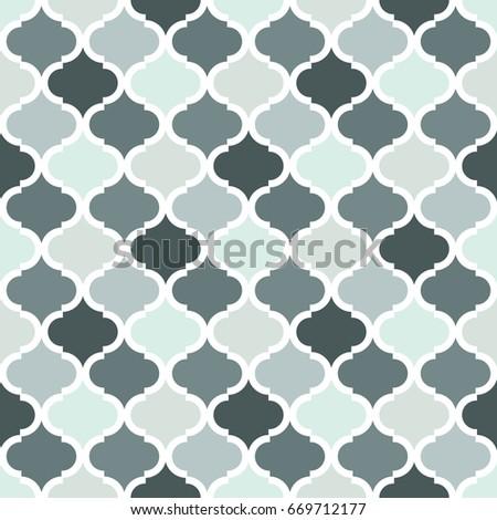 Geometric Trellis Pattern Grey Seamless Background Screen Print Vector Texture Website Textured