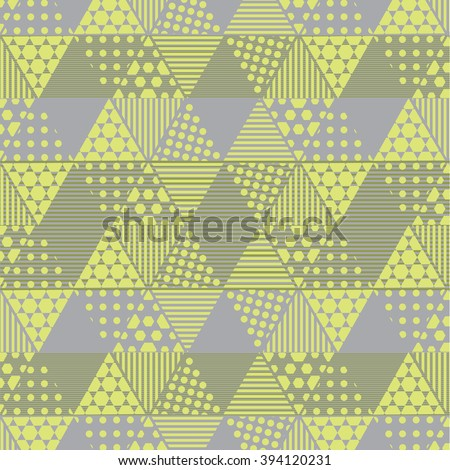 Geometric triangle pattern, Background vector can be used for wallpaper, cover fills, web page background, surface textures. Geometric simple print.
