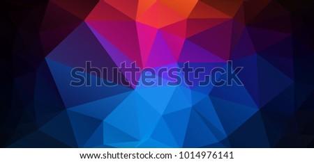 Geometric Triangle Pattern Wallpaper Flat Vector Background