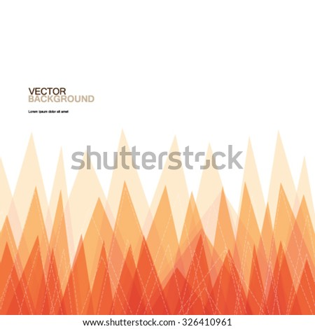 Geometric Triangles Modern Background - stock vector