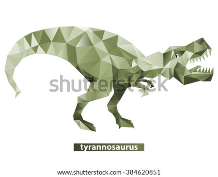 Geometric tyrannosaurus with many triangles