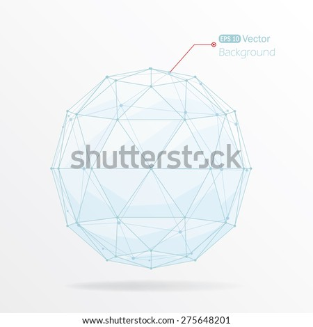 Geometric vector abstract background - stock vector