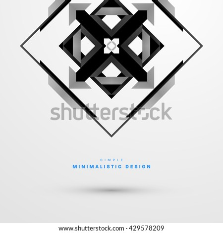 Geometric Vector Background. Abstract Pattern for Business Presentations, Application Cover and Web Site Design