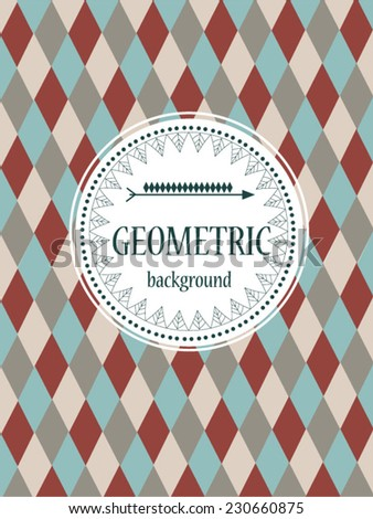 Geometric vector background in american indian traditions