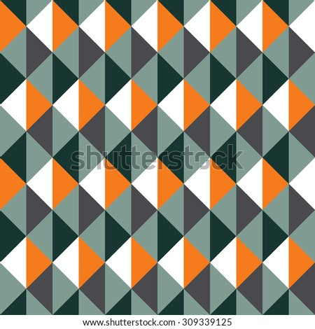 Geometric vector pattern in retro style, abstract trendy background, modern texture, colored wrapping paper, fabric in 60s, 70s, 80s and 90s fashion style for design - stock vector