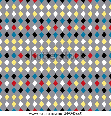 Geometric vector pattern in retro style, modern stylish texture, abstract background, wrapping paper, fashion style, geometric fabric template and layout for decoration and design - stock vector