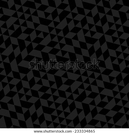 Geometric vector pattern with triangular black and gray triangles. Seamless abstract ornament for wallpapers and backgrounds