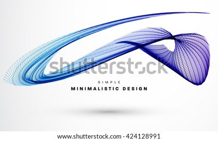 Geometric Vector Wave for Presentation, Annual Reports, Brochures, Leaflets, Posters, Business Cards and Documents Cover Pages Design - stock vector