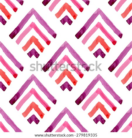 Geometric watercolor seamless pattern. Abstract background. Vector illustration. - stock vector