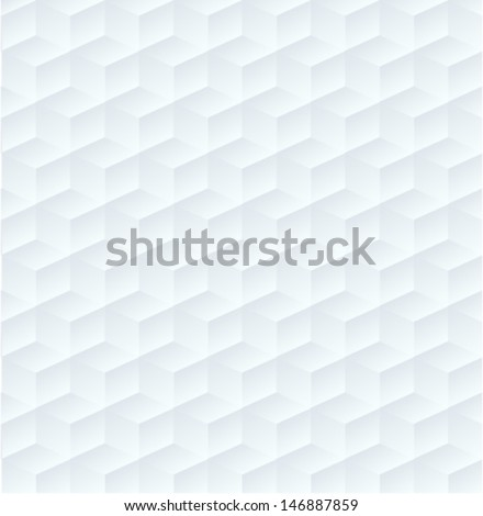 geometric white pattern background, seamless texture - stock vector