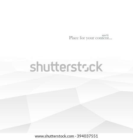 Geometric white shapes. Abstract background with perspective. Vector illustration eps10. - stock vector