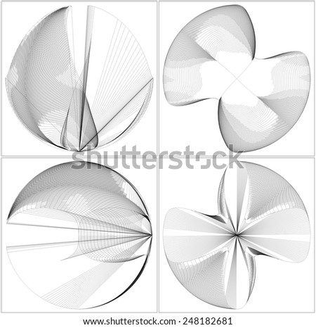 Geometric Wireframe Shape Vector 39 - stock vector