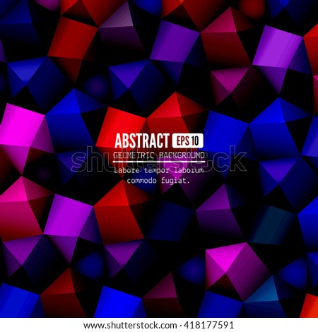 Geometrical abstract background. Vector illustration