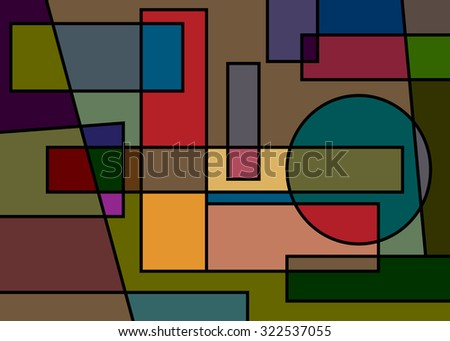 Geometrical abstract pattern, modern art.