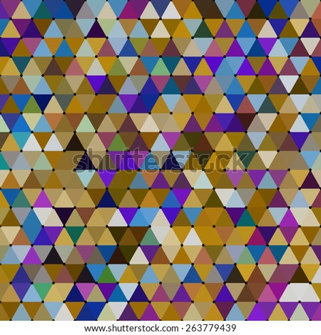 Geometrical background consisting of triangular elements - stock vector