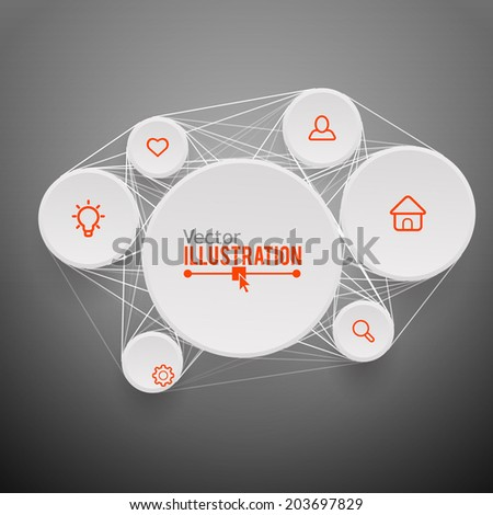 Geometrical Design. Business connections concept. Vector illustration. - stock vector