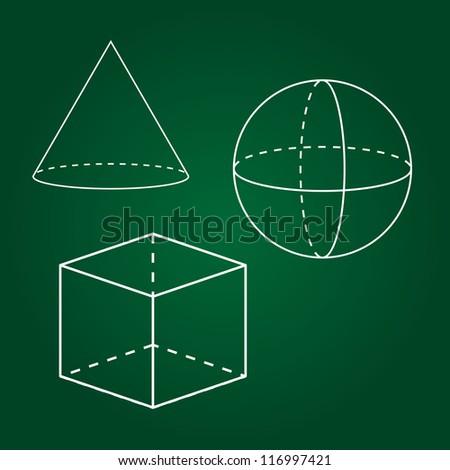 Geometrical figures - stock vector