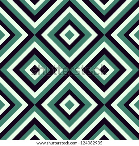 Geometrical pattern in retro colors, seamless vector background. For fashion textile, cloth, backgrounds. - stock vector