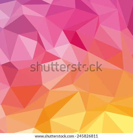Geometrical pattern with polygons. Vector background. - stock vector