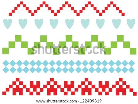 geometrical patterns for ornaments - stock vector