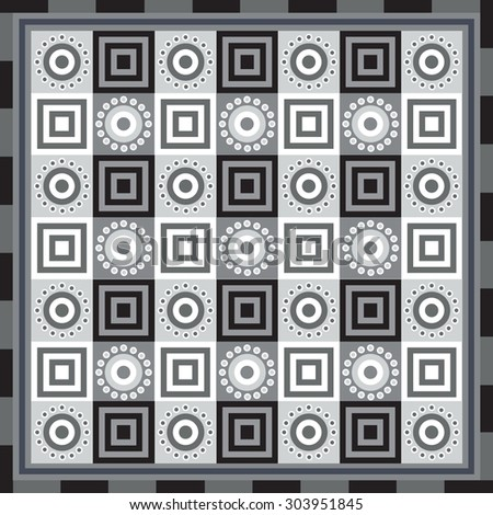 Geometrical seamless abstract pattern from decorative ethnic ornament elements .  African, Mexican, Turkmen texture (background) for packing, textile, interior, web design. - stock vector