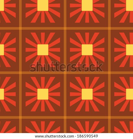 Geometrical seamless floral pattern
