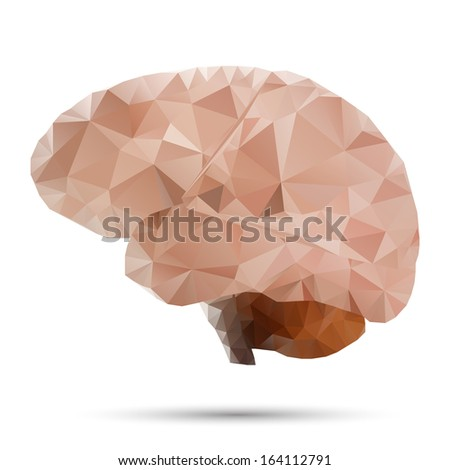 geometrical stylized brain - stock vector