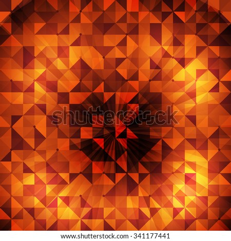 geometry background for your text or presentation with gold effect - stock vector