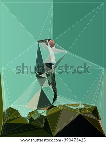 geometry shape origami background pattern color modern