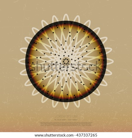 Geometry symbol. Decorative grunge background with sacred elements. Religion background. vector illustration. - stock vector