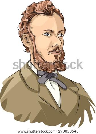 Georg Cantor - stock vector