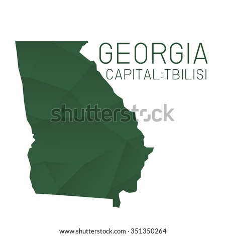 Georgia Map Geometric Background Stock Vector Shutterstock - Georgia map label