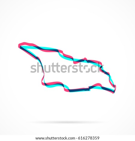 Georgia Map Isolated On Transparent Background Stock Vector - Georgia map drawing