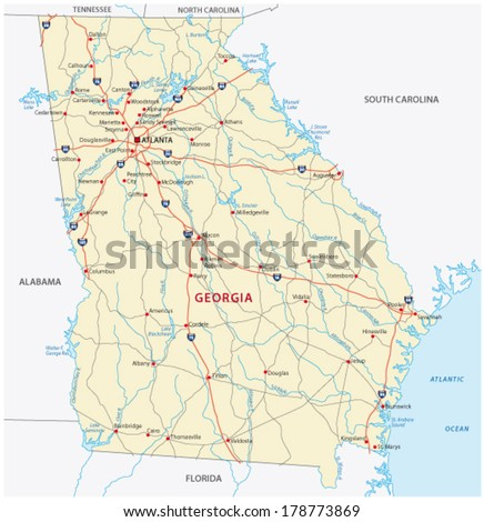 Alabama Map Stock Images RoyaltyFree Images Vectors Shutterstock - Road map of alabama
