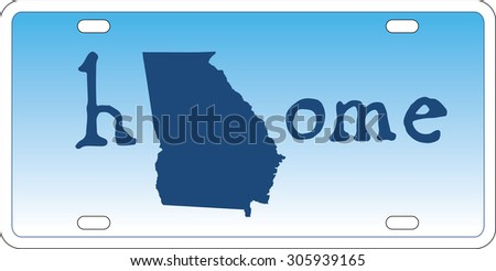 Georgia state license plate vector