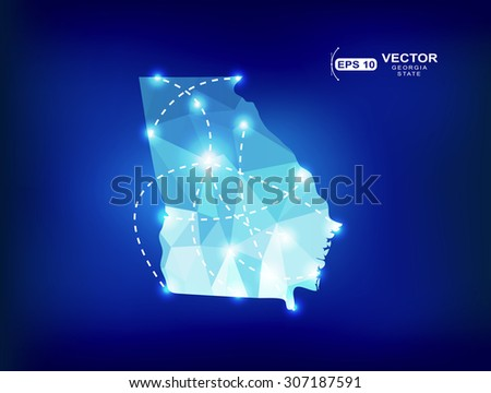 Georgia Design Stock Vectors Vector Clip Art Shutterstock - Modern map of georgia us