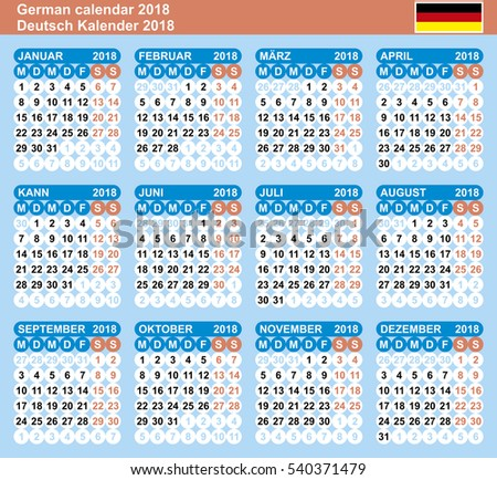 calendar 2018 vector template numbers circle stock vector. Black Bedroom Furniture Sets. Home Design Ideas